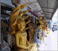 Bangkok Bamrung Muang Statues 20180208_122852 DSCN2946 (CanadaGood) Tags: asia seasia asean thailand thai ราชอาณาจักรไทย bangkok krungthep building shopping statue metal bell hindu buddhist canadagood 2018 thisdecade color colour