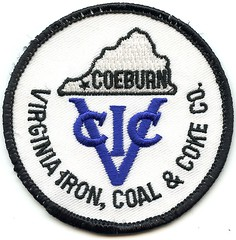 Virginia Iron, Coal & Coke Co. Patch (Coalminer5) Tags: mining miningmemorabilia miningcollectible miningartifacts miner coalmining coalminer coalmemorabilia coalcollectibles coal patch sewonpatch virginiacoal coeburnva coeburnvirginia vicc
