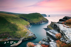Boscastle (Rich Walker Photography) Tags: boscastle cornwall landscape landscapes landscapephotography coast coastline harbour sea ocean water waves sunset sky boats rock seaside seascape seascapes