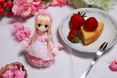 IMG_1654 (kwokt59) Tags: doll azone pico pureneemo piconemo d 112 sahras sahra mode white strawberry cake