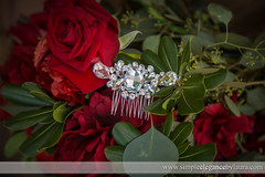 Crystal Comb and Red Roses (Laura K Bellamy) Tags: red floral wedding weddings details bling