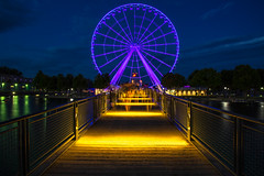 190/365: Wheely ghostly (judi may) Tags: 365the2018edition 3652018 day190365 09jul18 canada montreal longexposure bigwheel nighttime 52weekchallenge lagranderouedemontreal movement starbursts reflections canon5d