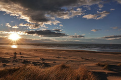 Breaking through...... (flying-leap) Tags: newzealand northcanterbury nz southisland beach pacificocean light the4seasons cloudsstormssunsetssunrises weather waikuku clouds waikukubeach sea 4winter winter sony sonydscrx10m4 sonydscrx10iv sonyrx10iv sunlight sand tussock