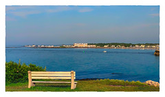 Looking across to Kennebunk... (Timothy Valentine) Tags: 2018 ocean 0718 bench vacation datesyearss monday kennebunkport maine unitedstates us