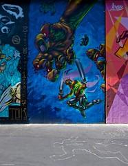 IMGP5431 The Killer hand (Claudio e Lucia Images around the world) Tags: murales graffiti streetart milano vialemonza ferrovia via pontano milanese pentax pentaxk3ii sigma sigma1020 pittura face faccia murale art viapadova padova persone muro world the killer hand