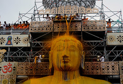 DSC_0912 (rajashekarhk) Tags: gomateshwara god beauty bahubali mahamastakabhisheka shravanabelogola karnataka chandana chandanaabishekam jainism jain jainfestival colours culture religus religousfestival rajashekar yellow golden festival festivalofcolours oncein12years hkr nikon