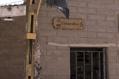 Snails Street Sign San Pedro de Atacama Chile (Barbara Brundage) Tags: snails street sign san pedro de atacama chile