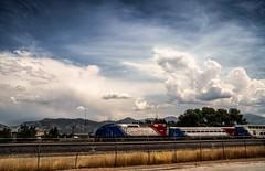 off to dreamland... (Alvin Harp) Tags: frontrunner commutertrain cloudsstormssunsetssunrises saltlakecity utah july 2018 natureswonder hff sonyilce7rm3 fe2470mmf28gm happyfencefriday alvinharp