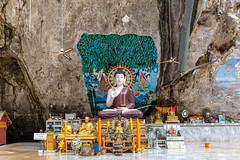 Buddha statues in the Tiger Cave Temple (Evgeny Ermakov) Tags: asia asian buddha incensestick krabi southeast southeastasia thai thailand tigercave tigercavetemple ancient buddhism buddhist buddhistic culture cultures famous gold golden heritage holy image incense incensesticks koh landmark old religion religious sit sitting statue statues temple tourism touristic traditional travel wat editorialuse