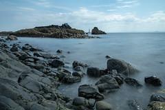 Rocky coast (Marion McM) Tags: coast coastline shore shoreline sea seashore clouds sky longexposure fife scotland waves water landscape seascape elie