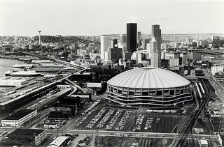 Throwback Thursday! Kingdome and Seattle skyline, circa 1978