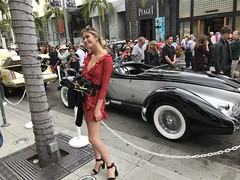 Auburn Speedster Beverly Hills (iamazeyou) Tags: auburn speedster black silver boatail rodeo drive concours beverly hills car pretty girl with beautiful woman luxury classic vintage deco cord dusenberg malibu automobile delegance 2018 short summer classy dresses