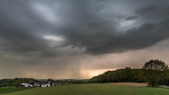 arrival of the beast (Markus Trienke) Tags: halver nordrheinwestfalen deutschland de thunderstorm weather storm landscape field forest trees sky clouds lightning