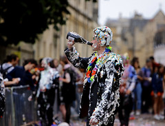 'Well deserved'. (andrew_@oxford) Tags: oxford university students exams trashing celebration trashed 2018