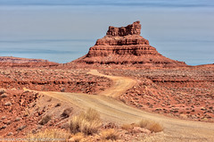 Landscape in Valley of the Gods, Utah (Alaskan Dude) Tags: travel usa unitedstates utah valleyofthegods americansouthwest landscape nature scenery navajosandstone