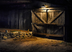 barn door (hightoneguy) Tags: barns oldbuildings texasbuildings luckenbach lighting texas wood