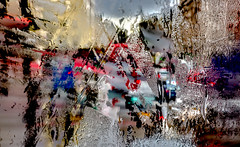 ... (Michael Lee - mplee.com) Tags: rain wet street london windscreen city painterly raining hdr mplee icm incamera nophotoshop abstract abstracted movement layer multiple exposure photograph condensation traffic road