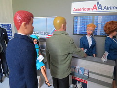 13. Getting busier (Foxy Belle) Tags: doll katherine johnson made move dollhouse miniature diorama airport work barbie uniform vintage gray american airlines business ken alan rebodied redressed science nasa celebrity allan playscale ooak 16 scale 1960s
