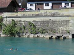 Space Invader BRN_27 (tofz4u) Tags: bern berne suisse switzerland schweiz svizzera streetart artderue invader spaceinvader spaceinvaders mosaïque mosaic tile brn27 reactivated restauré spacerescueintl reactivationteam black noir river rivière nageur swimmer