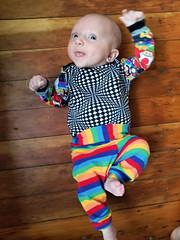 Rainbow road (quinn.anya) Tags: rainbowroad eliza baby rainbow onesie