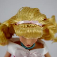 2018 Singing Cinderella Doll - Disney Store Purchase - Deboxed - Standing - Closeup View of Hair Ribbon (drj1828) Tags: disneystore singing 1112inch cinderella purchase pink dress deboxed standing