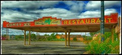 "Next to ""New""..... (Sherrianne100) Tags: sign mexicanfood dilapidated drivein closed restaurant rt66 themotherroad route66 santarosa newmexico"