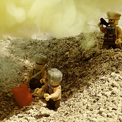Training with Poison Gas, Eastern Front 1916 (PresidentPickleChip) Tags: ww1 lego
