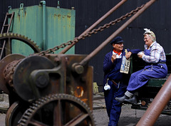 'Wartime workers' (andrew_@oxford) Tags: timeline events black country museum living history wartime workers docks crane 1940s