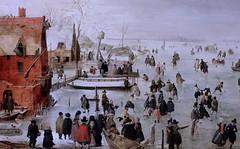 IMG_0853 Hendrick Avercamp. 1585-1634 Amsterdam Winter landscape. Paysage d'hiver; Vers 1610 Schwerin.Staatliches Museum