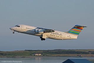 Braathens Regional Avro RJ-100 SE-RJI at Isle of Man EGNS 09/06/18