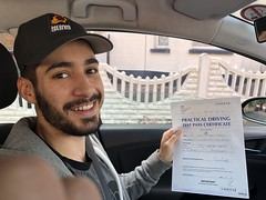 Massive congratulations to Bertalan Eljeadi passing his driving test on his first attempt with only 1 minor fault. From beginner to an excellent driver.  www.leosdrivingschool.com