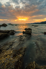 The Ray before End of the Day (Marcus Lim @ WK) Tags: sunset seaside rock wave landscape nikon cloud cloudy sky ocean sea coast
