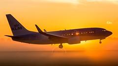 Morning glows (Ewout Pahud de Mortanges) Tags: airliners airliner airplane aviation jetliner jet aircraft canonnederland canon sunlight sun netherlands schiphol polderbaan sunrise boeing klm sky sunset cockpit