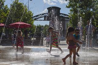 Summer Splash Pad Silhouette