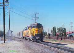 UP 703                     12-1-79 (C E Turley) Tags: trains railroads railway up unonpacific gp30