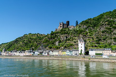 Boat Cruise on Rhine - DSC_0429 (John Hickey - fotosbyjohnh) Tags: 2018 cologne germany july2018 river riverrhine landscape scenic riverboatcruise mountain hill riverbank nikon sky building town castle tower architecture