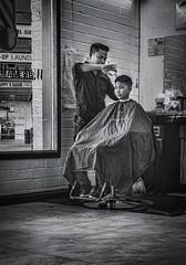 Haircut (FotoGrazio) Tags: asianamericans asianmen california miramesa sandiego street usa vietnamesebarbers waynegrazio waynesgrazio waynestevengrazio barber barberchairs barbershop barbers blackandwhite business customers cutinghair documentaryphotography fotograzio hairstyling hairtrim haircut hygiene lifeinamerica men razorcut streetscene trim twoclients