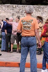 guys at the Alamo (miosoleegrant2) Tags: texas tx mission san antonio history outside building architecture alamo sanantonio man male butch guy gentleman men guys dude studly manly dudes handsome stud candid hunk sexy masculine people jean mature older butt