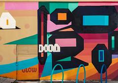 The streets of Tirana (Leaning Ladder) Tags: tirana albania mural graffiti streetart colors shapes doors leaningladder canon 7dmkii