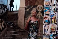 (Denkrahm) Tags: elegant postcards oldtown stairs dress woman nicefrance