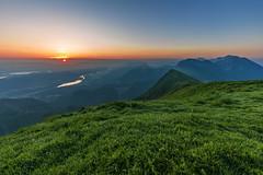 Sunrise on Kahlkogel (manuel.thaler) Tags: mountain range hill peak ridge landscape valley alpenglow snowcapped rolling golica kahlkogel carinthia austria kärnten slovenia jesenice drau drava