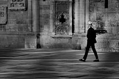 ^^^ walk in the city ^^^ (christikren) Tags: man blackwhite christikren monochrome photography candid street streetphotography sw urban walk city cathedral wall hat vienna