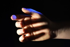 (josie.bell) Tags: lighting black shadow white blue hand
