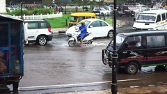 Water logging at Miramar Beach Circle (joegoauk73) Tags: joegoauk goa rain raining water logging flooding floods