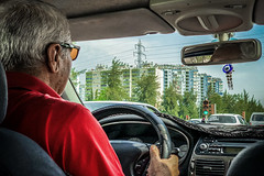 Take me there and wish me luck (Melissa Maples) Tags: antalya turkey türkiye asia 土耳其 apple iphone iphonex cameraphone spring driver driving vehicle car taxi turk man traffic