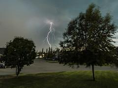 Lightning (PhotoGizmo) Tags: lightning storm britishcolumbia princegeorge clouds tree thunderstorm
