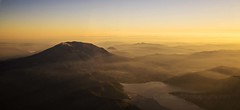Aerial St Helens in the Mist (www.mikereidphotography.com) Tags: aerial northwest mountain mountsthelens crater volcano explore explored landscape sunset sky