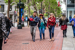 San Francisco 2018 (burnt dirt) Tags: sanfrancisco california vacation town city street road sidewalk crossing streetcar cablecar tree building store restaurant people person girl woman man couple group lovers friends family holdinghands candid documentary streetphotography turnaround portrait fujifilm xt1 color laugh smile young old asian latina white european europe korean chinese thai dress skirt denim shorts boots heels leather tights leggings yogapants shorthair longhair cellphone glasses sunglasses blonde brunette redhead tattoo pretty beautiful selfie fashion japanese red green puffyjacket hat