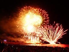 Fireworks (93) (calafellvalo) Tags: tarragonafireworkscastelldefocscalafellvalofuegosfirefeuerwerkskirocket julio 2018 tarragona fuegosartificiales castelldefocs miracle fire fuego fireworks feuerwerk feuxdartifice castelldefocsdartifici rockets skyrocket noche night beach calafellvalo