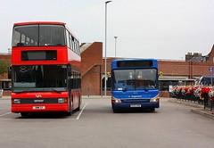 Stagecoach at Kings Lynn (Chris Baines) Tags: lynxbus optare spectra daf db250 stagecoach dennis dart slf pointer kings lynn bus station